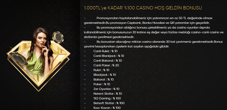 Vippark 0 Casino Hoşgeldin Bonusu